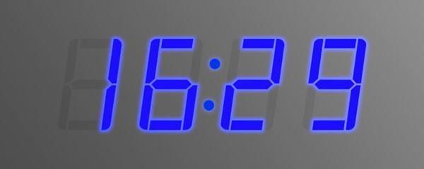 Часы голубые